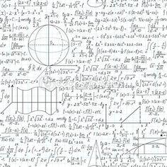 Mathematische Vektor nahtlose Muster mit Formeln, Plots und Gleichungen — Stockillustration #36739049