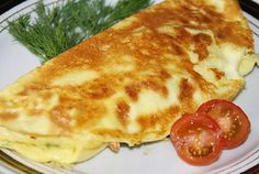 Omelet stuffed with mushrooms
