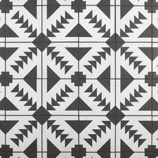 Apache Black and White Matte Porcelain Tile - 8 x 8 - 100585454 Vinyl Tiles, Ceramic Wall Tiles, Luxury Vinyl Tile, Luxury Vinyl Plank, Polished Porcelain Tiles, Black And White Tiles, Commercial Flooring, Style Tile, Floor Decor