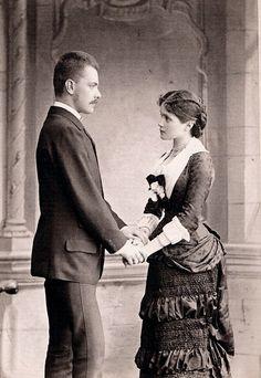 Circa 1879 Engagement photo......