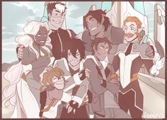 OHANA MEAN'S FAMILY KEITH, U WONT GET LEFT BEHIIIIIIIIIIIINd. I imagine that this is a photo he keeps next to his bed. (and Shiro keeps one in his wallet cause dadcore) but YEAH this was basically me satisfying the need to draw the squad together and...