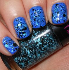 Imperfectly Painted: Maybelline Blue Beats http://imperfectlypainted.blogspot.com/