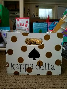 Sorority crate for big little reveal Kate Spade inspired