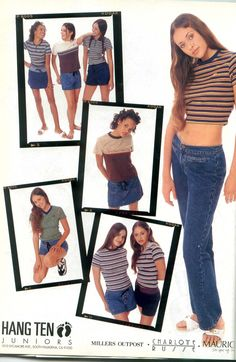 source: pinterest brand: charlotte russe year: 1996 why: The company I work at designs denim for charlotte russe, so it's cool to see what they used to sell. April 1996. The vintage Charlotte Russe logo tho