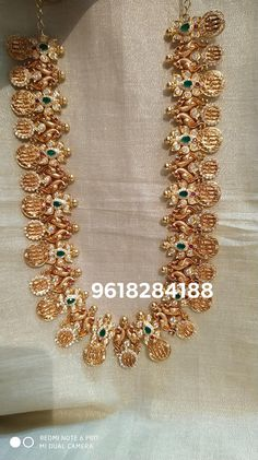 Stunning one gram gold long haaram with ram parivar kasu hangings. Long haaram studded with multi color Czs. Gold Earrings Designs, Gold Jewellery Design, Necklace Designs, Wholesale Gold Jewelry, Indian Jewelry Sets, Gold Jewelry Simple, Bridal Jewelry, Fashion Jewelry, Rakhi