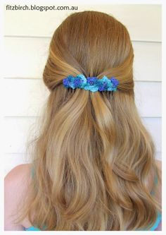 A little bit of crochet is the perfect hair accessory - free instructions