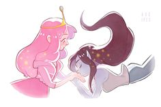 Adventure Time Marceline, Adventure Time Anime, Cartoon Network, Marceline And Princess Bubblegum, Vampire Queen, Lesbian Art, Bubbline, Film Serie, Cute Gay
