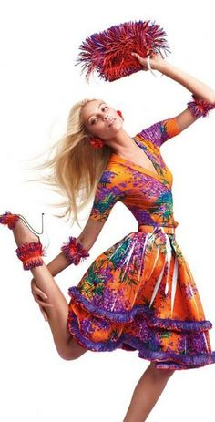 Vika Falileeva for Blumarine Spring 2012 Campaign by Sebastian Faena.
