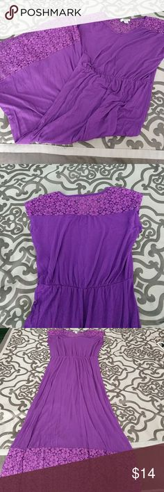 "Purple maxi dress Purple Maxie dress that is a size medium and is 50"" long. Only worn once. Great summer and beach dress. Route 66 Dresses Maxi"