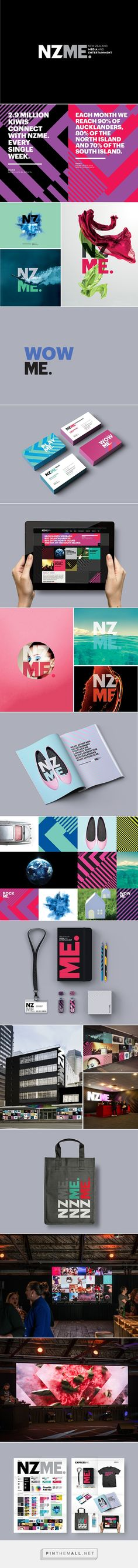 New Zealand Media & Entertainment Branding on Behance - created via http://pinthemall.net