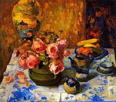 Franz Bischoff - Roses on the Tea Table