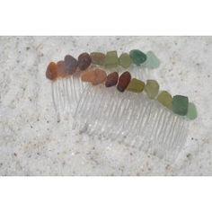 Colorful Sea Glass Hair Combs