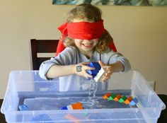 Five Ways to Play with LEGO bricks and Water from Fun at Home with Kids