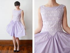 1950s Lavender Teena Paige Party Dress  S/M by LoveCharles on Etsy