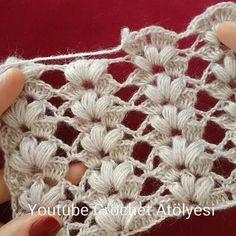 Create and Decorate: 10 Fall-Inspired Mason Jar Cookie Recipes Puff Stitch Crochet, Crochet Shawl, Diy Crochet, Crochet Stitches, Crochet Baby, Easy Knitting Patterns, Crochet Flower Patterns, Crochet Flowers, Knit Vest Pattern