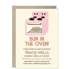 Bun in the Oven Baby Shower Invitation