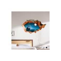 Art Mural - Stickers Muraux - 3D Sticker mural - Papier mural 3D Paysage revêtements muraux PVC lavables sticker mural mur art Sticker Mural, Art Mural, Floating Shelves, Stickers, Home Decor, Wall Cladding, Room, Landscape, Bedroom