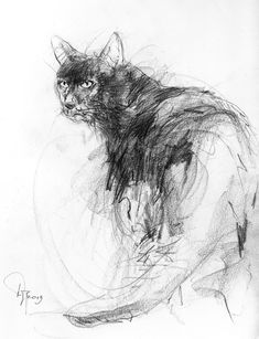 how to draw kawaii Cat Drawing, Drawing Sketches, Painting & Drawing, Animal Sketches, Animal Drawings, Interesting Drawings, Animal Paintings, Dog Art, Pet Portraits
