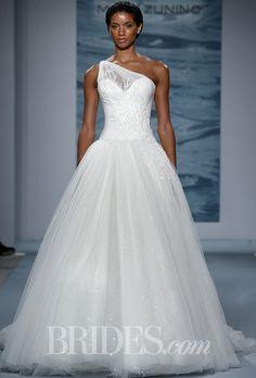 A sophisticated, one-shoulder #weddingdress | Brides.com