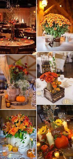 inspirational fall wedding centerpieces ideas