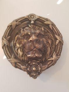 Lion Head Door Knocker Door Furniture, Entrance Doors, Door Knockers, Decorative Bowls, Lion, Entry Doors, Leo, Entrance Gates, Front Doors