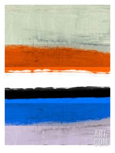 Abstract Stripe Theme White and Black Print by NaxArt at Art.com