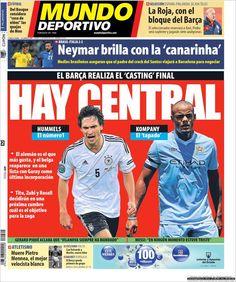 Los Titulares y Portadas de Noticias Destacadas Españolas del 22 de Marzo de 2013 del Diario Mundo Deportivo ¿Que le parecio esta Portada de este Diario Español?