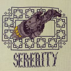 Serenity cross-stitc