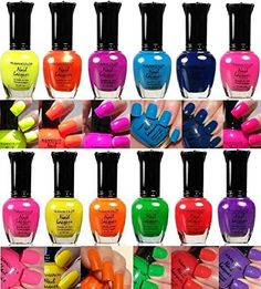New Kleancolor Nail Polish Neon Collection Set of 12 Lacquer Full Size Art OPI * You can get additional details at the image link.