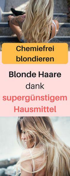 Mit dem Hausmittel Natron kannst du deine Haare ganz natürlich heller bekommen. Blonde Haare natürlich aufhellen, Blonde Haare natürlich bekommen, blonde haare lang, blonde haare kurz, blond natürlich aufhellen, blond natürlich färben, blond natürlich Strähnchen