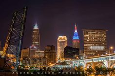 Cleveland Skyline - view from the Superior Viaduct - Captured by Andrew Gacom Photography - www.andrewgacom.com