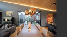 archiweb.cz - Rodinný dom CLT 10 Porches, Conference Room, Ceiling Lights, Interior, Table, Furniture, Architects, Home Decor, Facades