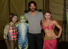 Joe at Cirque Du Soleil (that chick has abs to rival his!)
