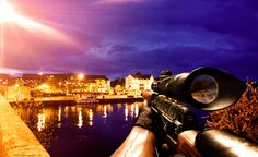 Sniper on Carrick-on-Shannon Bridge..