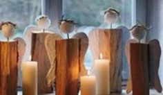 Diy Christmas angels out of wood