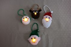 A Battery Candle Makeover For Christmas – Crochet Create nativity designs would be cute. Cute Christmas Tree, Crochet Christmas Ornaments, Christmas Crochet Patterns, Holiday Crochet, Crochet Snowflakes, Christmas Items, Crochet Gifts, Simple Christmas, Snowman Ornaments