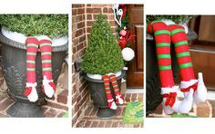 Elf legs.... this is a great idea - i love it!