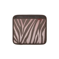 Pink and Brown Zebra Striped iPad Sleeves