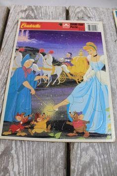 Vintage Cinderella Frame Tray Puzzle by IsabellaVintageCo on Etsy