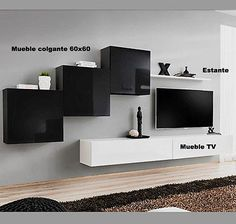 Mueble TV modelo Berit H120 en color negro