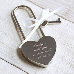 Express your love and commitment with our stunning engraved love lock.  Personalised with up to four lines or text, our quirky padlocks are the perfect gift for a birthday, anniversary or special occasion.  The idea for love padlocks has been traced back to a Chinese tradition in which they symbolise the locking of two lives together. The tradition has spread throughout Europe and love locks can be found in almost every European city, the most famous being perhaps Paris where couples flock…