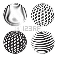 abstracto: colección de iconos de globo y símbolos abstractos