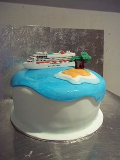 Cruise Ship Wedding Cake.  let us plan your cruise destination wedding www.voltvacations.com