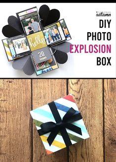 An Explosion Box Is A Cool Diy Gift That's Cheap ; eine explosionsbox ist ein cooles geschenk, das billig ist An Explosion Box Is A Cool Diy Gift That's Cheap ; Diy Crafts For Gifts, Diy Crafts Videos, Crafts For Kids, Kids Diy, Ideas For Gifts, Ideas For Birthday Gifts, Cool Gift Ideas, Decor Crafts, Present Ideas