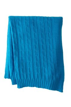 Camboo Cashmere Blend Cable Throw by Pur Cashmere on @HauteLook