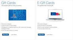 E-Gifts & Gift Cards - Bath & Body Works
