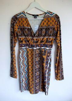 Kup mój przedmiot na #vintedpl http://www.vinted.pl/damska-odziez/krotkie-sukienki/14408606-boho-obcisla-sukienka-forever-21-dlugi-rekaw