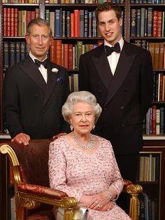 Rainha Elizabeth II, Príncipe Charles e Príncipe Willian