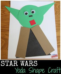 Toddler Approved!: Star Wars Yoda Shape Craft. Add magnets or sticky tack and let the kids create them on the windows?  Great for a toddler/preschool activity