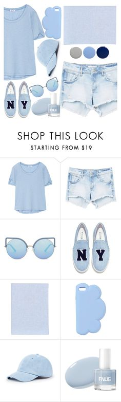 """Because I love blue."" by valemx on Polyvore featuring Splendid, MANGO, Matthew Williamson, Joshua's, Fine & Candy, STELLA McCARTNEY, Sole Society and Burberry"